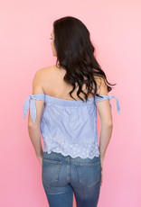 Cupcakes & Cashmere Strapless Striped Top