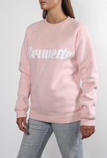 Brunette the Label Brunette Cursive Crew Sweatshirt