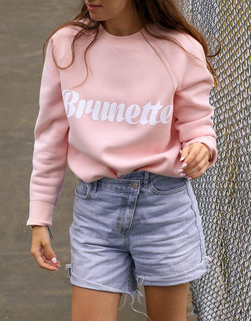 Brunette the Label Brunette Cursive Crew Sweatshirt