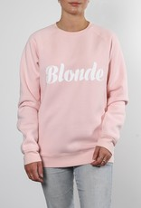 Brunette the Label Blonde Cursive Crew Sweatshirt
