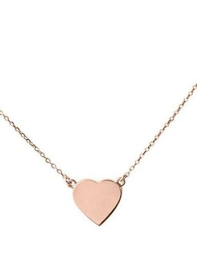 Right Hand Gal Right Hand Gal - Heart Necklace in 14k Rose Gold