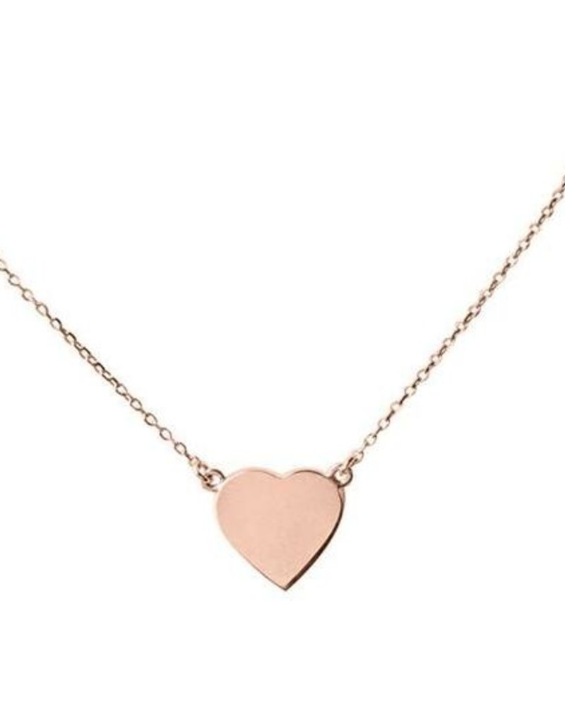 Right Hand Gal Heart Necklace - Rose Gold
