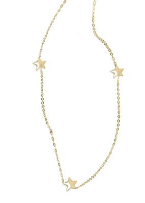 Right Hand Gal Right Hand Gal - 3 Star Necklace in 14K Yellow Gold