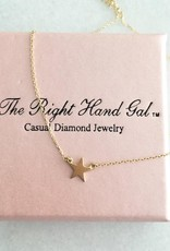 Right Hand Gal Star Necklace - Gold