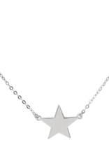 Right Hand Gal Star Necklace - White Gold
