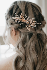 Luna & Stone Serena Hair Comb - Rose Gold