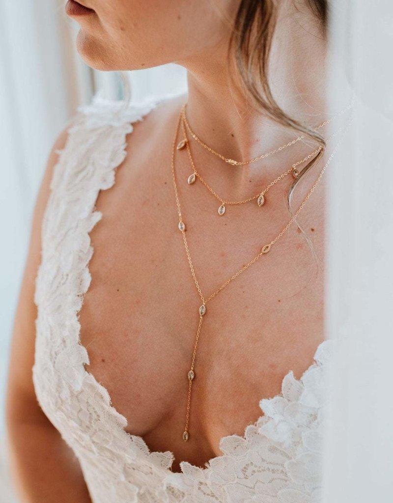 Luna & Stone Cosmo Necklace - Gold