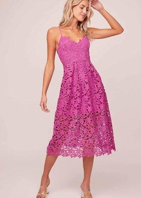 ASTR Kenna Lace Midi Dress