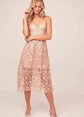 ASTR Kenna Lace Midi Dress