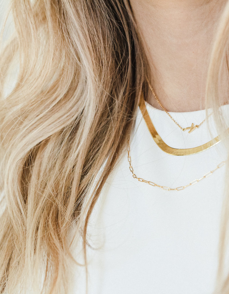Lavender & Grace Sloan Chain Necklace - Gold