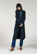Molly Bracken Maggie Knitted Long Cardigan - Navy