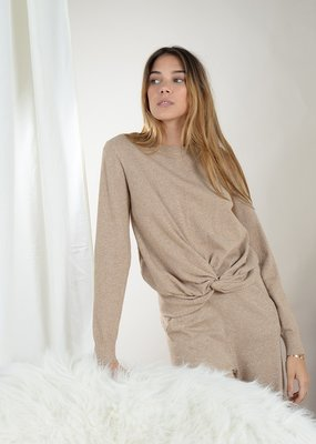Molly Bracken Mel Gold Knotted Sweater
