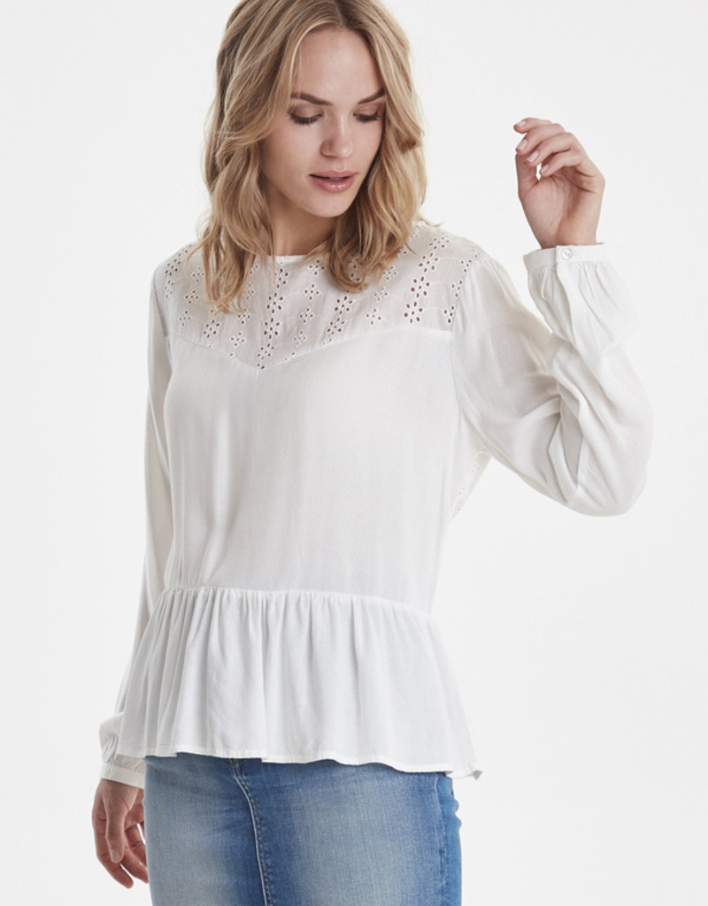 B.Young Yvonne Frill Blouse