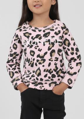 "Brunette the Label Brunette the Label - ""Little Babes"" Brunette Sweatshirt in Pink Leopard"
