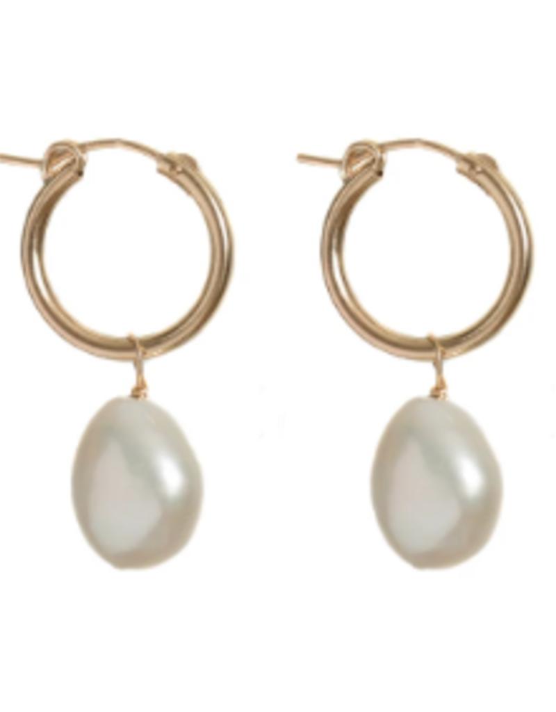 Lisbeth Degas Pearl Earring - 14k Gold Fill