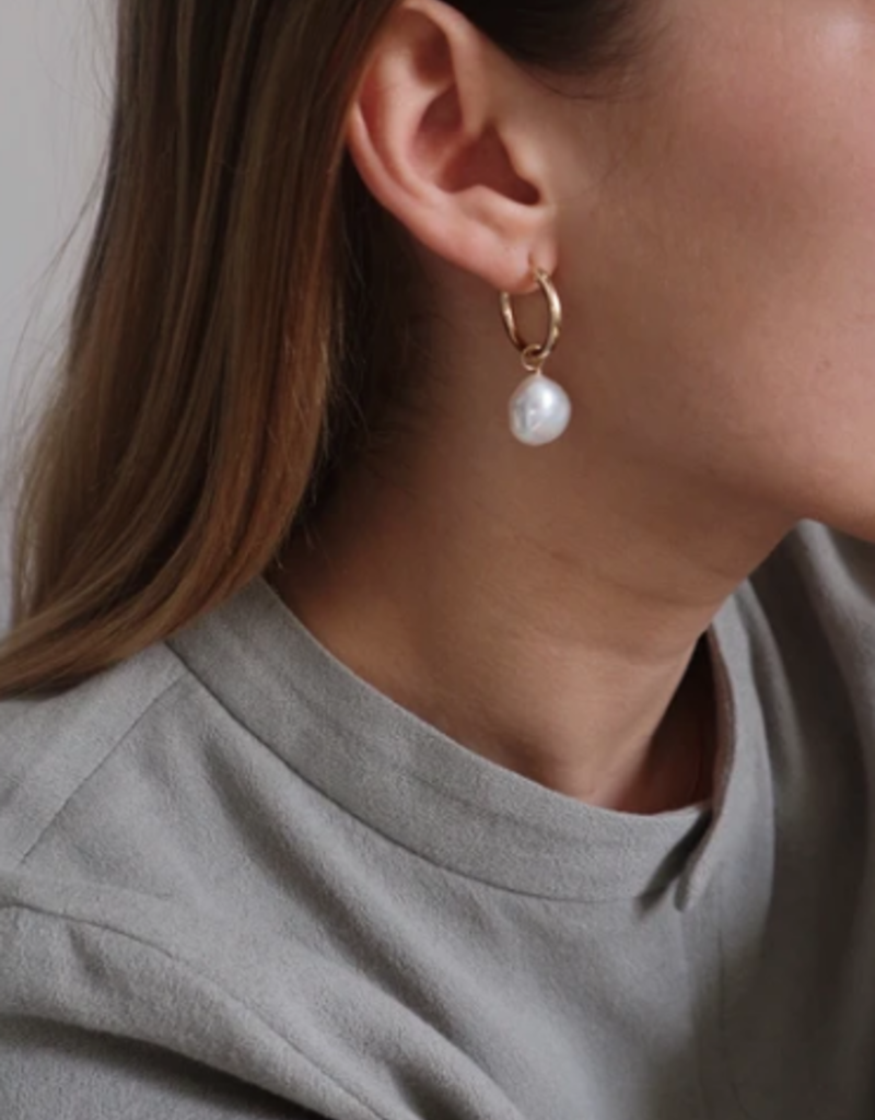 Lisbeth Degas Pearl Earring - Silver