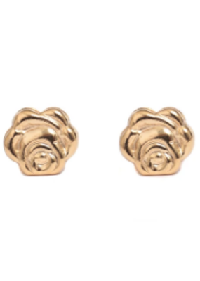 Lisbeth Rose Stud Earring in Gold
