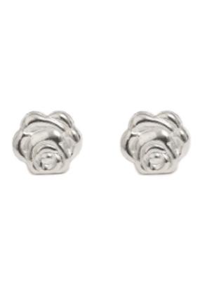 Lisbeth Rose Stud Earring in Silver