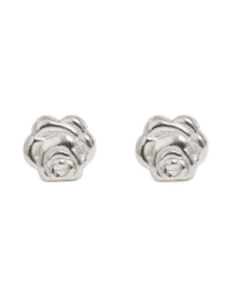 Lisbeth Rose Stud Earring - Silver