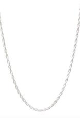 """Lisbeth Ambrosia Chain Necklace - Silver 18"""""""
