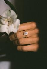 Leah Alexandra Mini Antiquity Ring - Moonstone