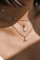 Leah Alexandra Floatesse Necklace - White CZ (GOLD)