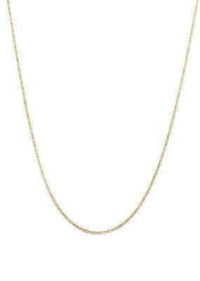 Leah Alexandra Leah Alexandra - Herringbone Chain Necklace in 18k Goldfill
