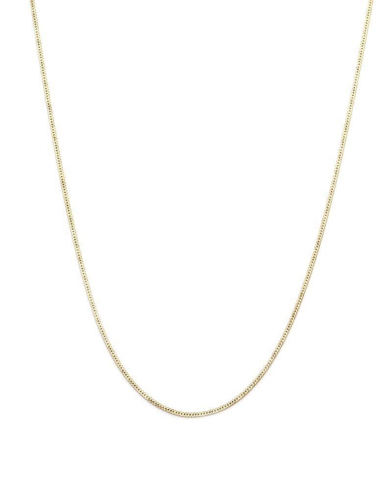 Leah Alexandra Herringbone Chain Necklace- Goldfill