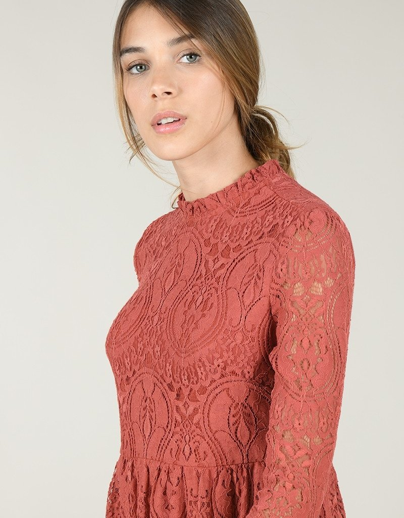 Molly Bracken Long Sleeve Lace Dress