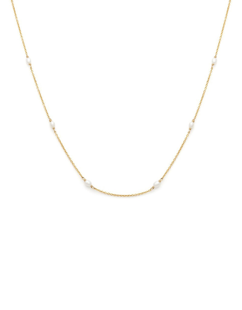 Leah Alexandra Floatesse Necklace - Pearl