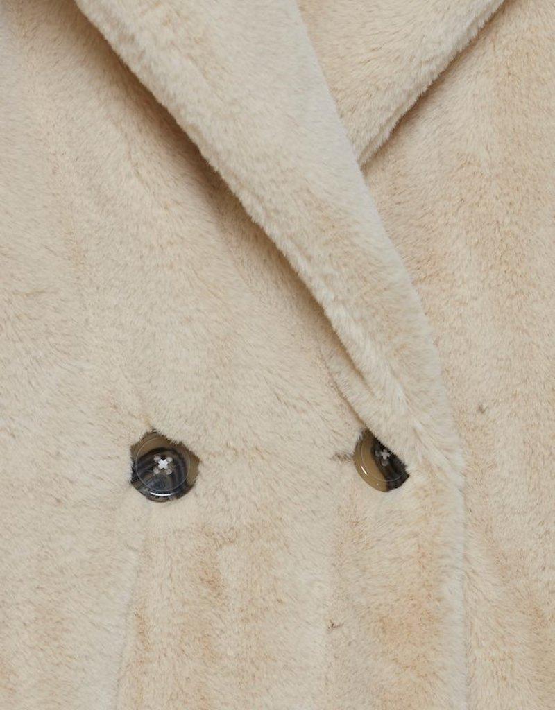 ICHI Haya Faux Fur Jacket