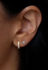Leah Alexandra Pave Huggies 10mm - Gold