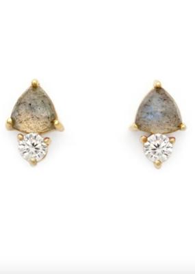 Leah Alexandra Leah Alexandra - Duo Stud Earrings - Labradorite