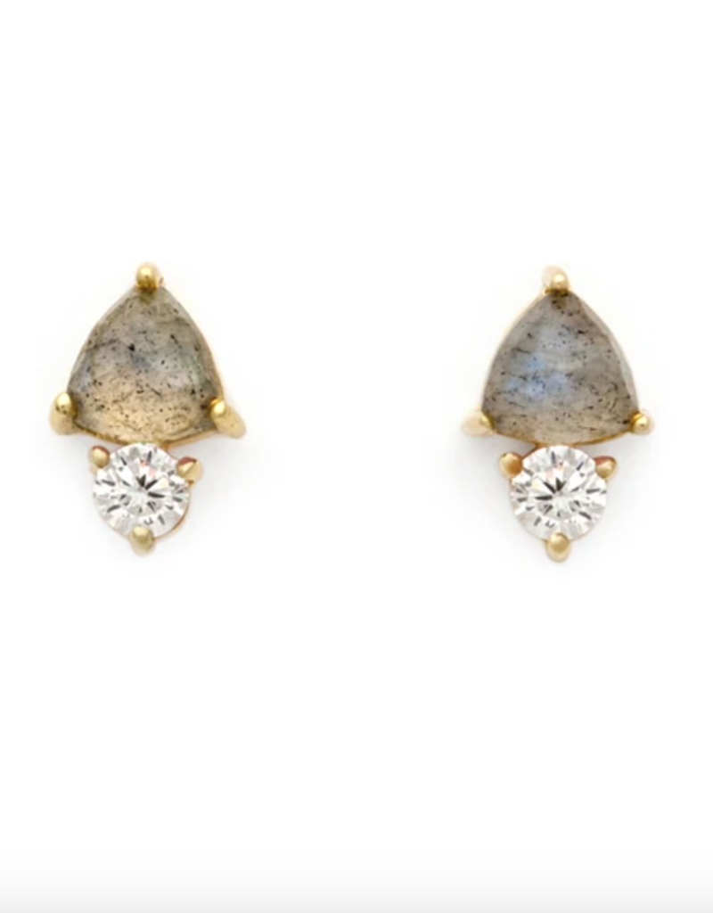 Leah Alexandra Duo Stud Earrings - Labradorite