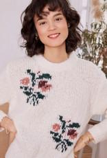 Des Petits Hauts Clemille Pullover Sweater in Ecru