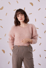 Des Petits Hauts Colinette Pullover Sweater in Beige Rose