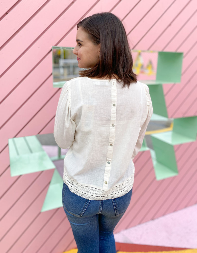 Cream Dalia Blouse