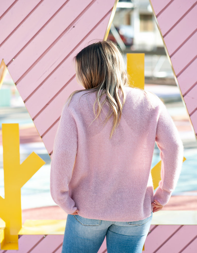 Des Petits Hauts Babali Pullover Sweater in Lilac