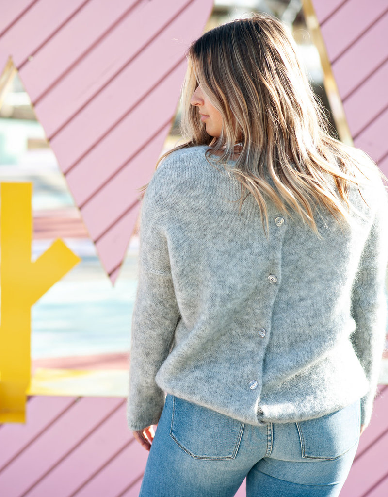 Des Petits Hauts Dolympe Pullover Sweater in Grey