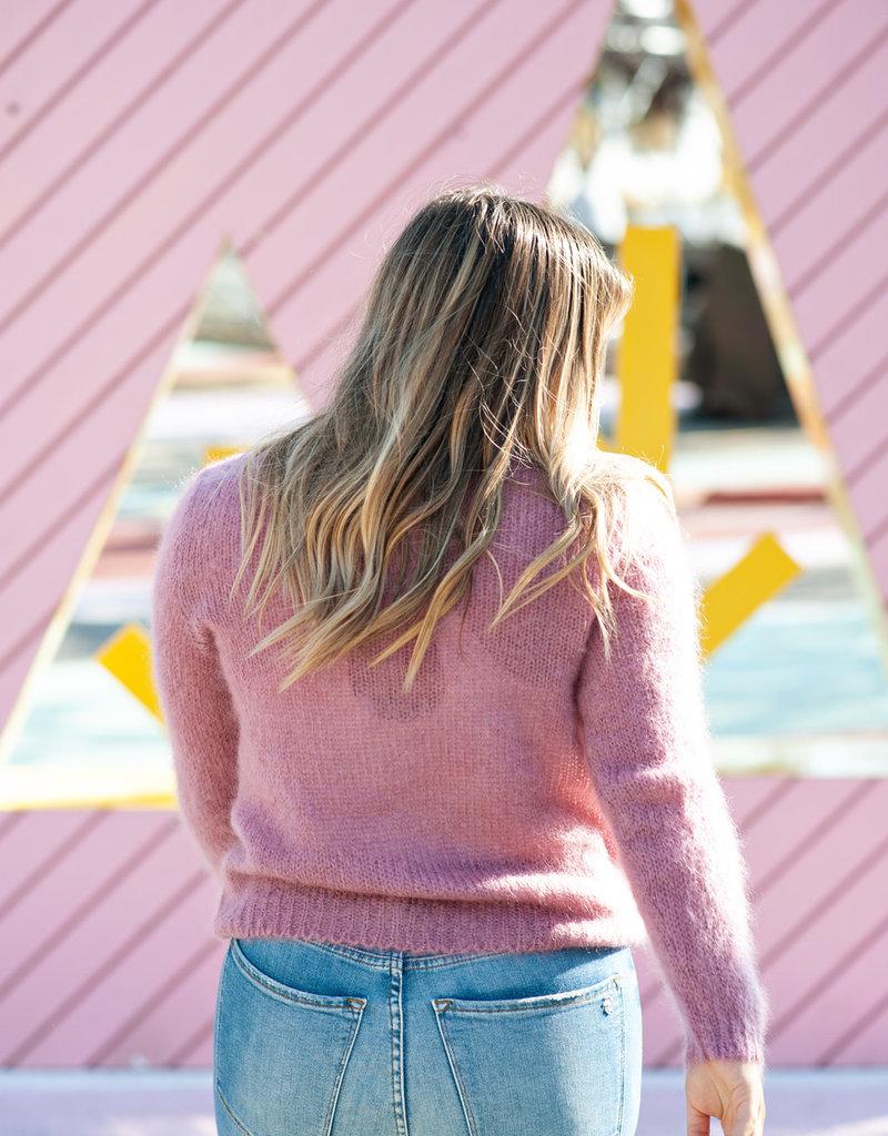 Des Petits Hauts Cosmic Pullover Sweater in Lavender