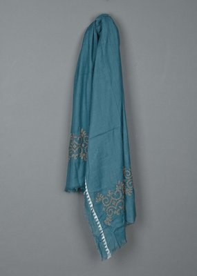 Indi and Cold Deja Embroidered Scarf