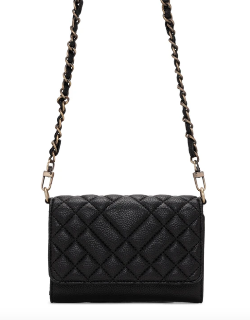 Colab Quilted Crossbody - Black