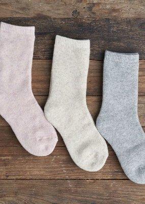 Lemon Terry Crew Sock (3 Pack)