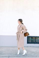 ICHI Jannet Long Jacket - Natural