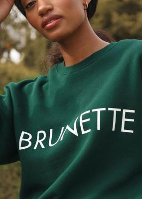 Brunette the Label Brunette the Label - Brunette Crewneck Sweatshirt in Evergreen