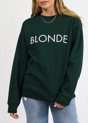 Brunette the Label Brunette the Label - Blonde Crewneck Sweatshirt in Evergreen