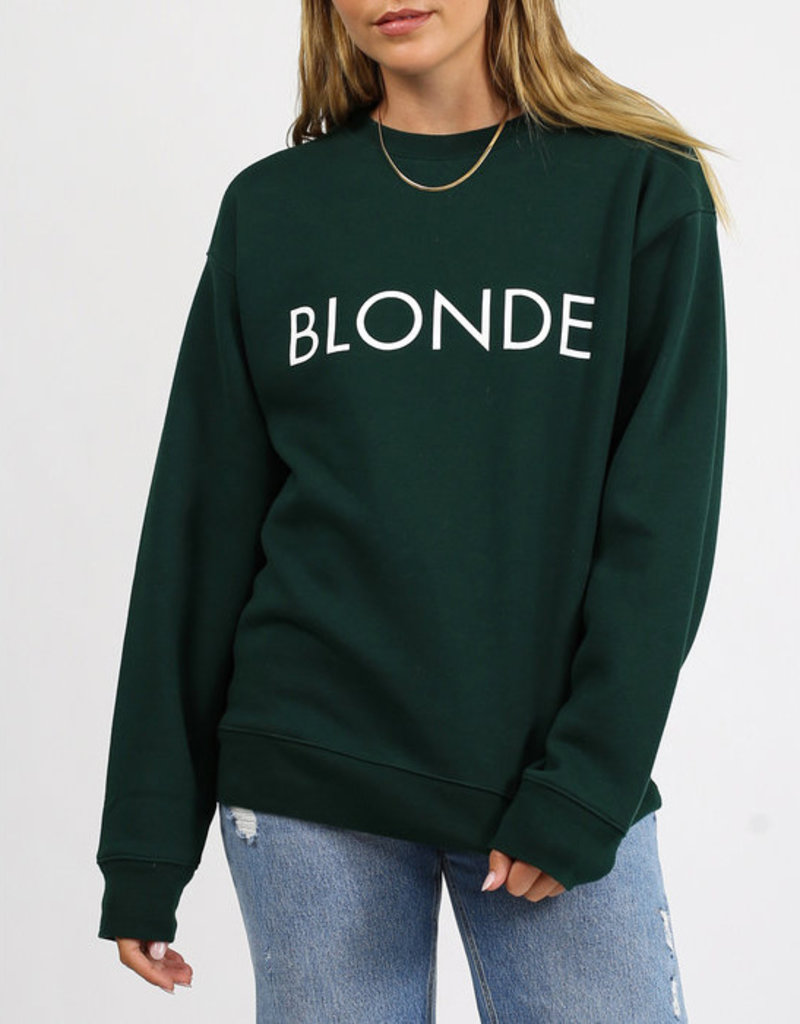Brunette the Label Blonde Crew Sweatshirt in Evergreen
