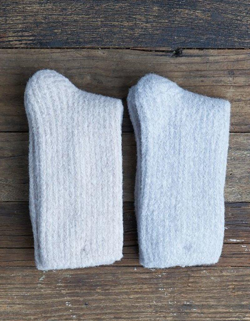 Lemon Koala Rib Boot Crew Sock