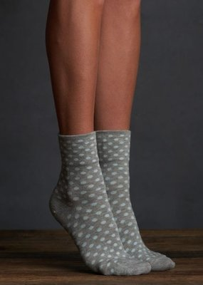 Lemon Dotted Anklet Sock (2 Pack) - Blue/Grey