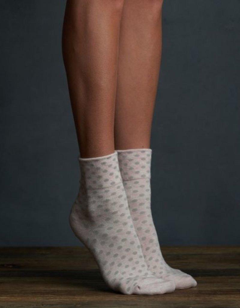 Lemon Dotted Anklet Sock - Pink 2pk